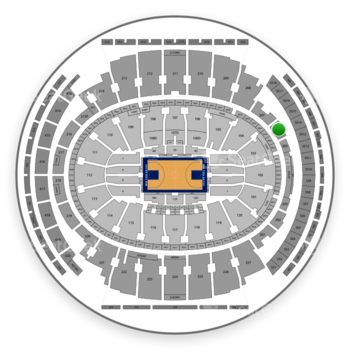New York Knicks at Madison Square Garden Section 206 View