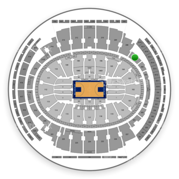 New York Knicks at Madison Square Garden Section 207 View