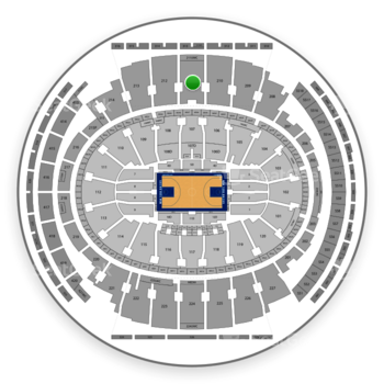 New York Knicks at Madison Square Garden Section 211 View