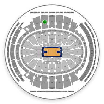 New York Knicks at Madison Square Garden Section 212 View