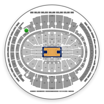 New York Knicks at Madison Square Garden Section 215 View