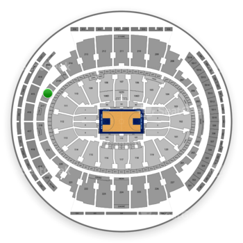 New York Knicks at Madison Square Garden Section 216 View