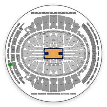 New York Knicks at Madison Square Garden Section 321 View