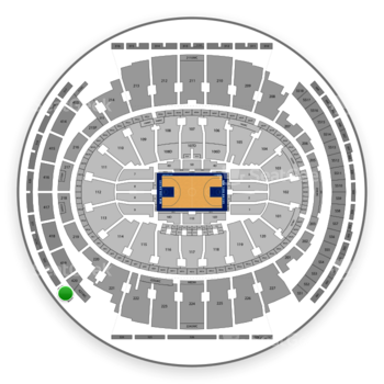New York Knicks at Madison Square Garden Section 323 View