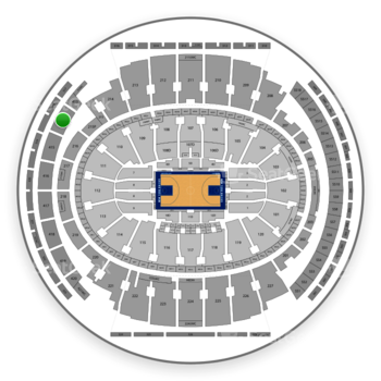 New York Knicks at Madison Square Garden Section 414 View