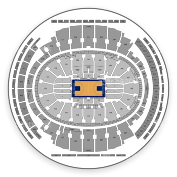 New York Knicks at Madison Square Garden Section 06 View