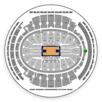 New York Knicks at Madison Square Garden Section 204 View