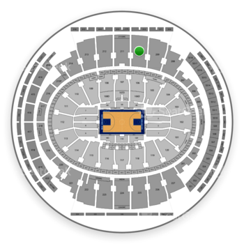New York Knicks at Madison Square Garden Section 210 View