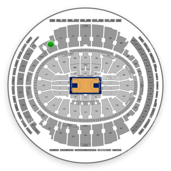 New York Knicks at Madison Square Garden Section 214 View