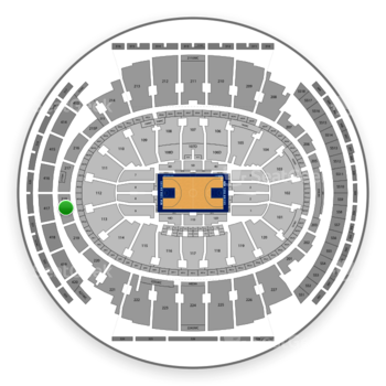 New York Knicks at Madison Square Garden Section 218 View