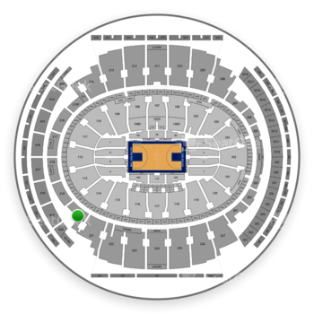 New York Knicks at Madison Square Garden Section 220 View