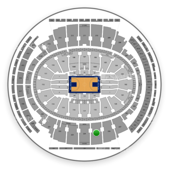 New York Knicks at Madison Square Garden Section 225 View