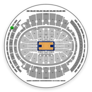New York Knicks at Madison Square Garden Section 318 View