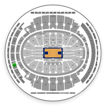 New York Knicks at Madison Square Garden Section 418 View