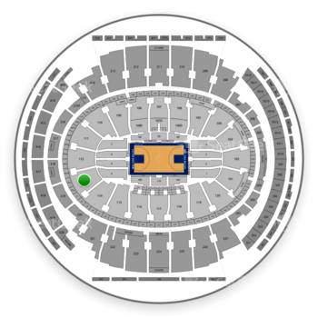 New York Knicks at Madison Square Garden Section 113 View