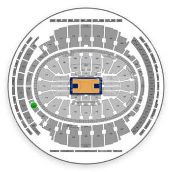 New York Knicks at Madison Square Garden Section 219 View