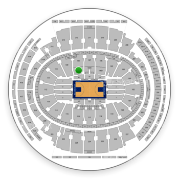 New York Knicks at Madison Square Garden Section 108 D View