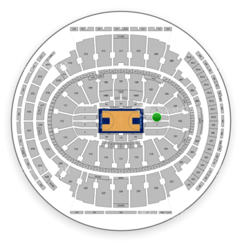 New York Knicks at Madison Square Garden Section 2 View