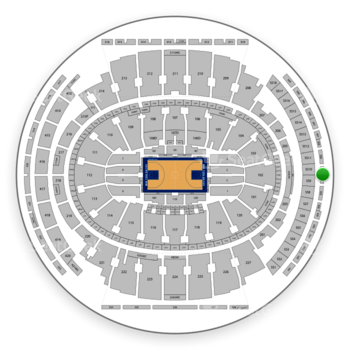 New York Knicks at Madison Square Garden Section 305 View