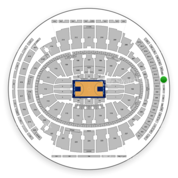 New York Knicks at Madison Square Garden Section 306 View