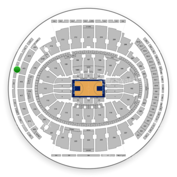New York Knicks at Madison Square Garden Section 319 View