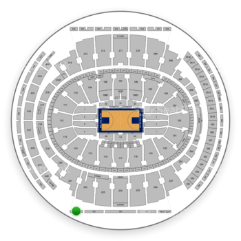 New York Knicks at Madison Square Garden Section 324 View