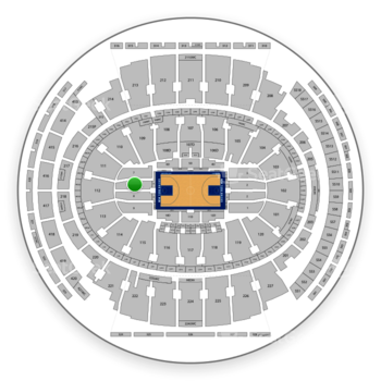 New York Knicks at Madison Square Garden Section 8 View