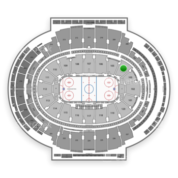 New York Rangers at Madison Square Garden Section 104 View