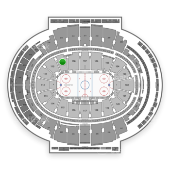 New York Rangers at Madison Square Garden Section 109 View
