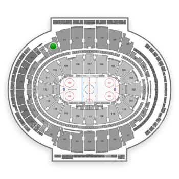 New York Rangers at Madison Square Garden Section 214 View