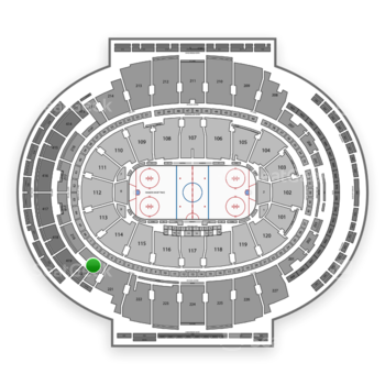 New York Rangers at Madison Square Garden Section 220 View