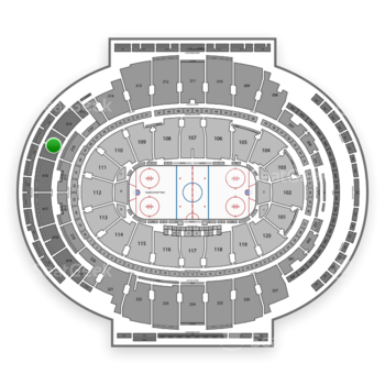 New York Rangers at Madison Square Garden Section 415 View