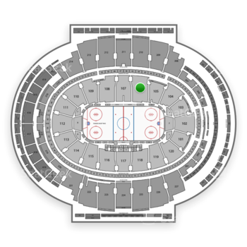 New York Rangers at Madison Square Garden Section 106 View