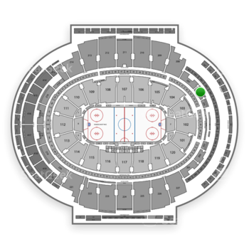 New York Rangers at Madison Square Garden Section 206 View