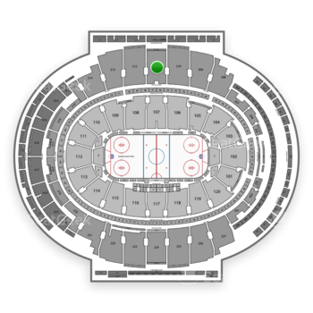 New York Rangers at Madison Square Garden Section 211 View