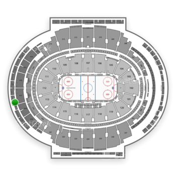 New York Rangers at Madison Square Garden Section 321 View