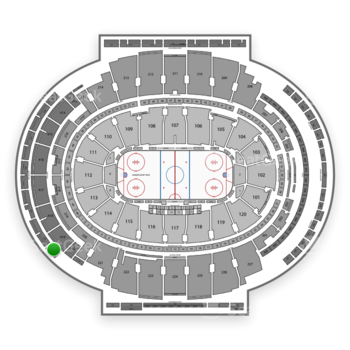 New York Rangers at Madison Square Garden Section 323 View