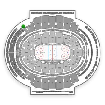 New York Rangers at Madison Square Garden 412 Wc View