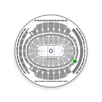 New York Rangers at Madison Square Garden Section 202 View