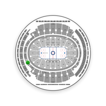 New York Rangers at Madison Square Garden Section 219 View