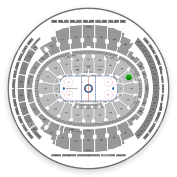 New York Rangers at Madison Square Garden Section 103 View