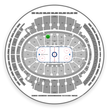 New York Rangers at Madison Square Garden Section 108 View