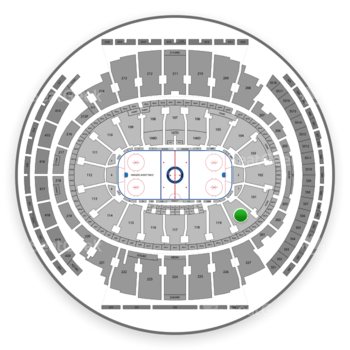 New York Rangers at Madison Square Garden Section 120 View