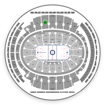 New York Rangers at Madison Square Garden Section 212 View