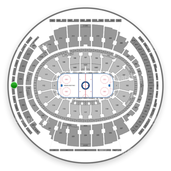New York Rangers at Madison Square Garden Section 320 View