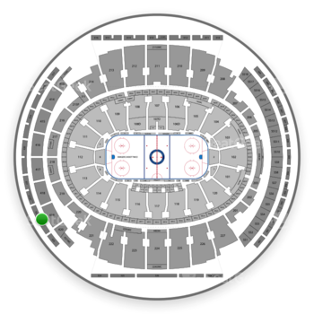 New York Rangers at Madison Square Garden Section 322 View