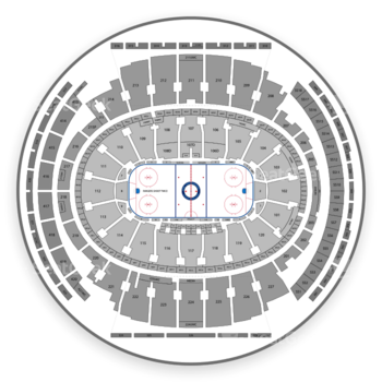 New York Rangers at Madison Square Garden Section 02 View