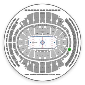 New York Rangers at Madison Square Garden Section 203 View