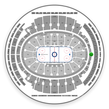 New York Rangers at Madison Square Garden Section 204 View