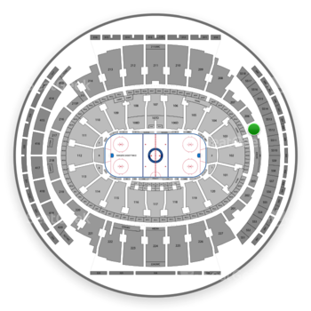 New York Rangers at Madison Square Garden Section 205 View